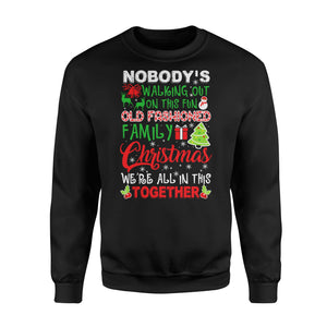 Family Christmas We're All In This Together - Standard Fleece Sweatshirt Apparel S / Black
