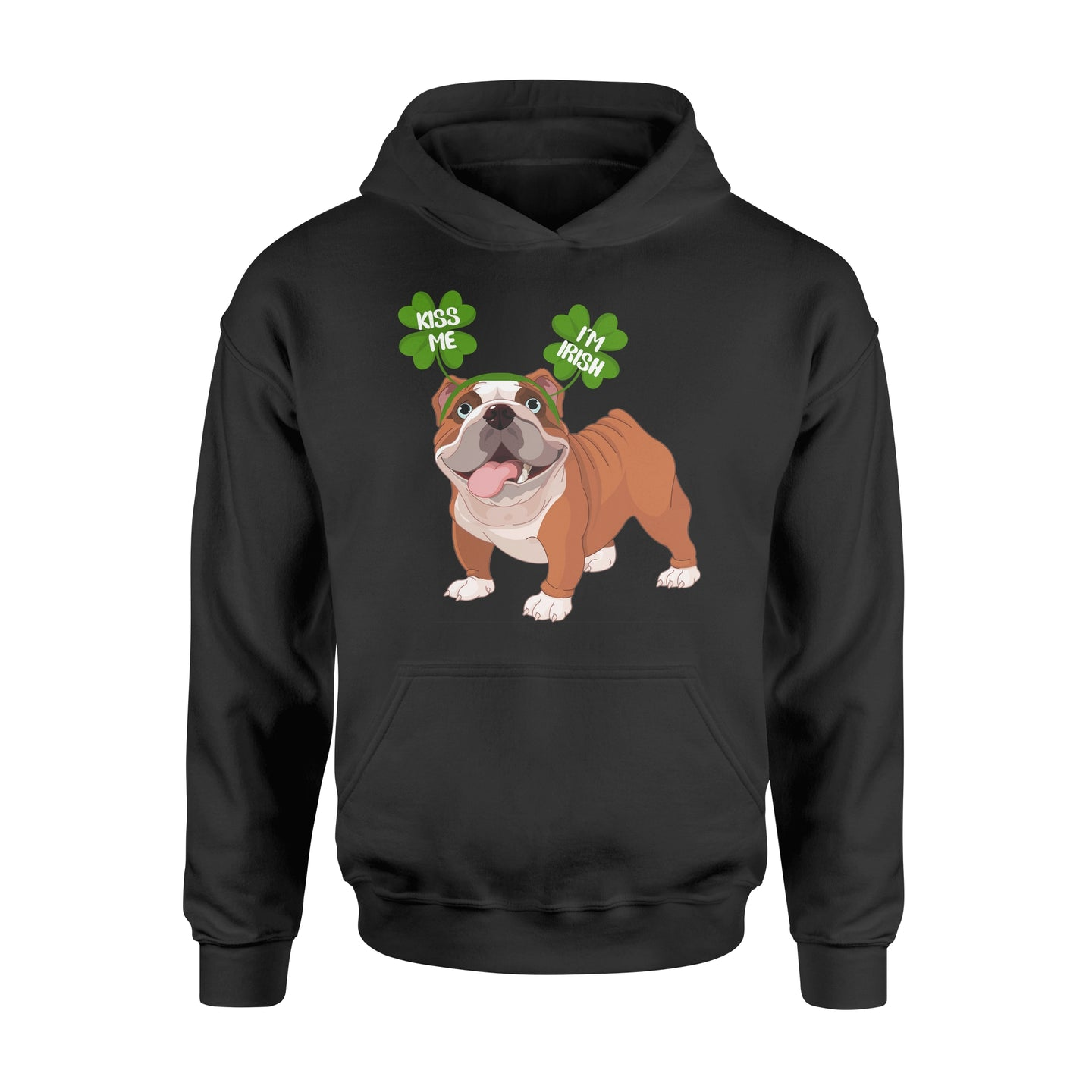 Funny Kiss Me I'm Irish Pug Dog Lovers - Standard Hoodie Apparel S / Black