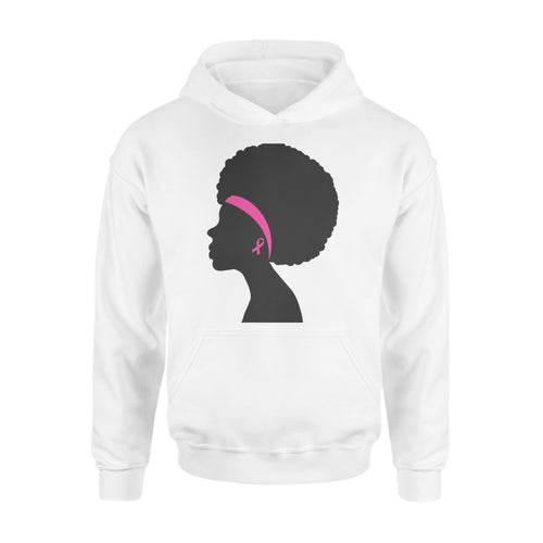 Black Women Breast Cancer Awareness - Standard Hoodie Apparel S / White