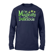 Load image into Gallery viewer, I'm Magically Delicious Irish Day - Standard Long Sleeve Apparel S / Navy