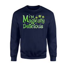 Load image into Gallery viewer, I'm Magically Delicious Irish Day - Standard Fleece Sweatshirt Apparel S / Navy