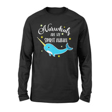 Load image into Gallery viewer, Narwhals Are My Spirit Animal - Standard Long Sleeve Apparel S / Black