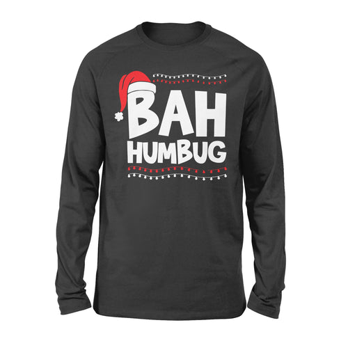 Bah Humbug Christmas Hat Xmas - Standard Long Sleeve