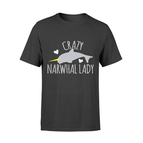 Crazy Narwhal Lady - Standard T-shirt Apparel S / Black