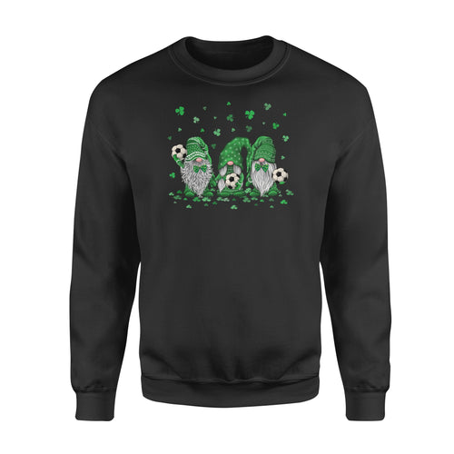 Best Couple St Patricks Day Themed Shirts Lucky Soccer Gnomes Shamrock - Standard Fleece Sweatshirt