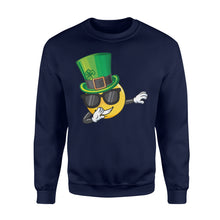 Load image into Gallery viewer, Cute Mens Womens Saint Patty's Day St Patricks Day Dabbing Paddys Day Shirts - Standard Fleece Sweatshirt Apparel S / Navy