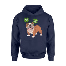 Load image into Gallery viewer, Funny Kiss Me I'm Irish Pug Dog Lovers - Standard Hoodie Apparel S / Navy