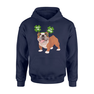 Funny Kiss Me I'm Irish Pug Dog Lovers - Standard Hoodie Apparel S / Navy