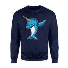 Load image into Gallery viewer, Narwhal Dab Dabbing Dance - Standard Fleece Sweatshirt