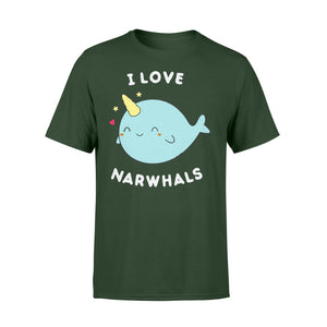 I Love Narwhals Cute - Standard T-shirt