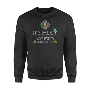 Cool Paddy Patty St Patrick's Day Shirt Lucky Shamrock Irish Flag Design - Standard Fleece Sweatshirt