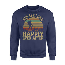 Load image into Gallery viewer, And She Lived Happily Ever After Hiking Camping Outdoor Tees - Standard Fleece Sweatshirt