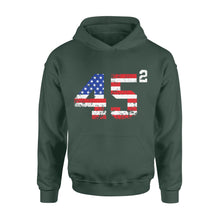 Load image into Gallery viewer, 45 Squared President Trump 2020 election American - Standard Hoodie