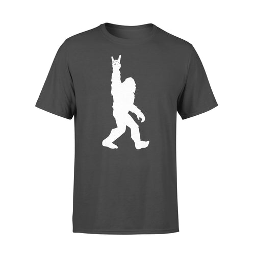 Funny Bigfoot Rock And Roll Party Sasquatch Believers Lover T Shirts - Standard T-shirt Apparel S / Black