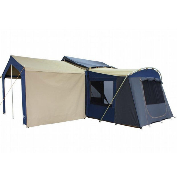 Optional Veranda awnings can also be pegged down and used as a windbreak.
