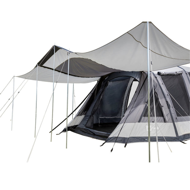 Enterprise 2 Tent with 2x Optional Veranda Awnings attached.