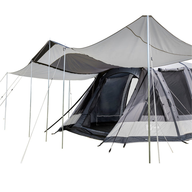 Enterprise 1 Tent with 2x Optional Veranda Awnings attached.