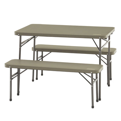 Coleman Pack-away Table and Bench - 3 piece set