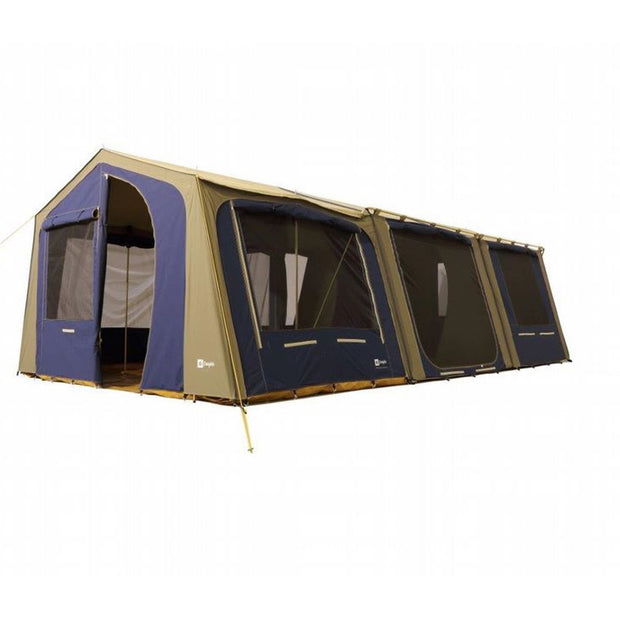 Coastline tent with optional sunroom attached