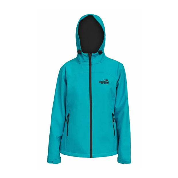 Womens Wildkiwi Softshell Jacket Aquamarine