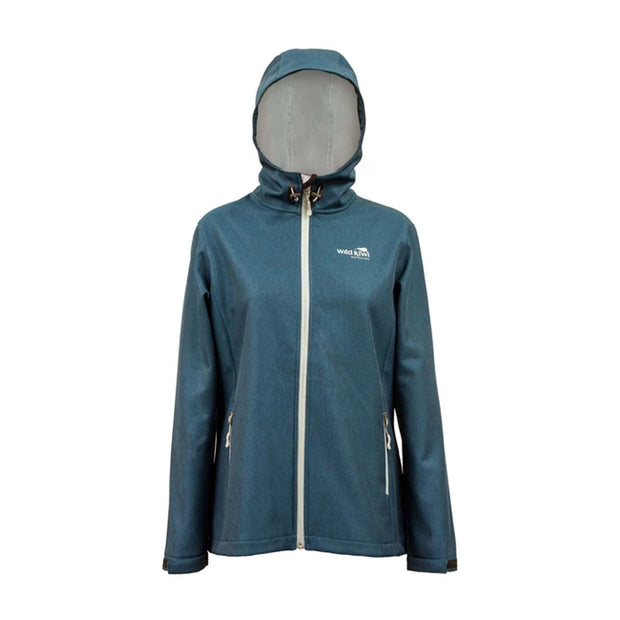 Womens Wildkiwi TechShell Jacket Blue