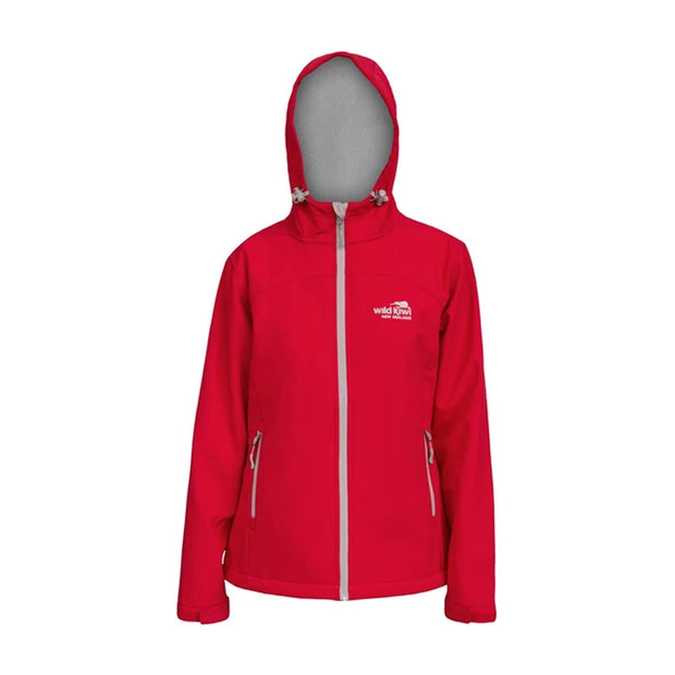 Womens Wildkiwi Softshell Jacket Red