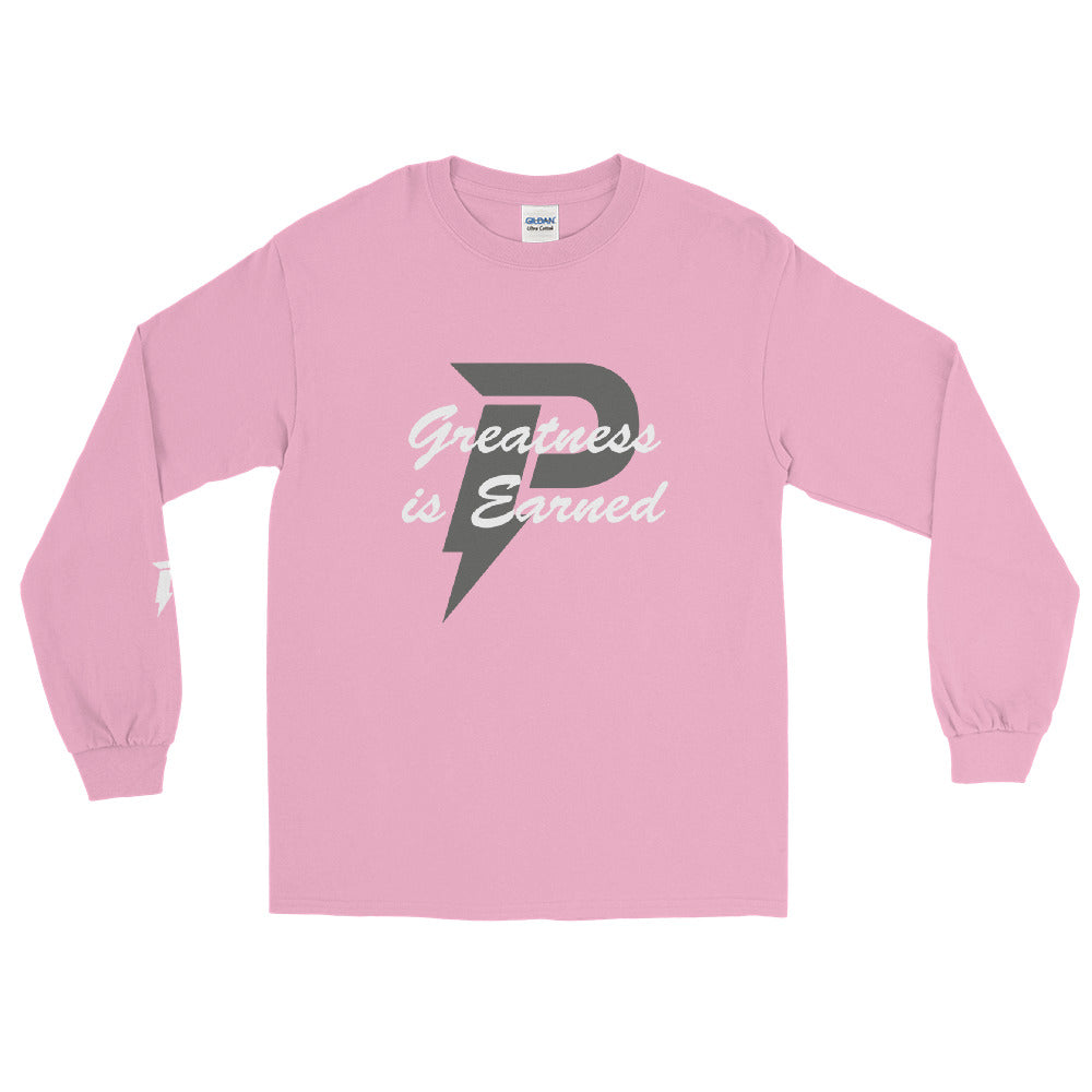 Greatness is Earned Long Sleeve (Pink)