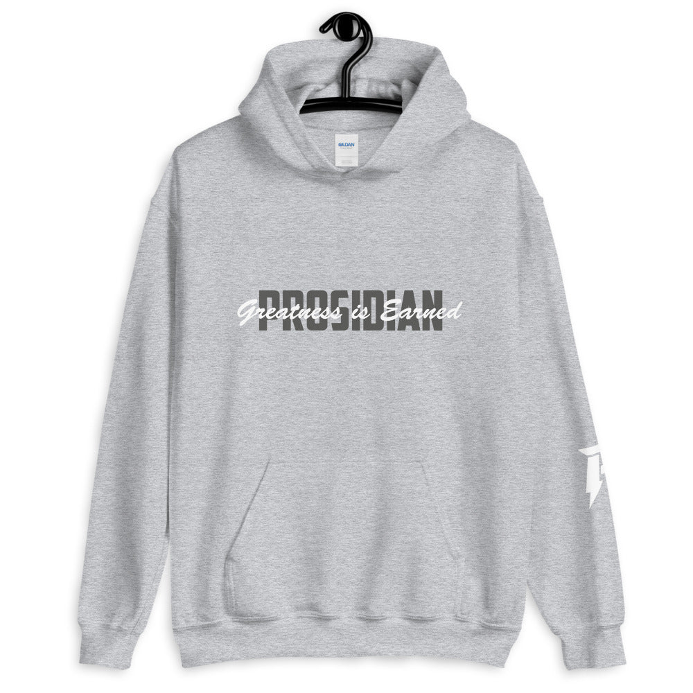 Greatness is Earned Unisex Hoodie (Grey)