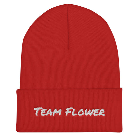 Team Flower Cuffed Beanie