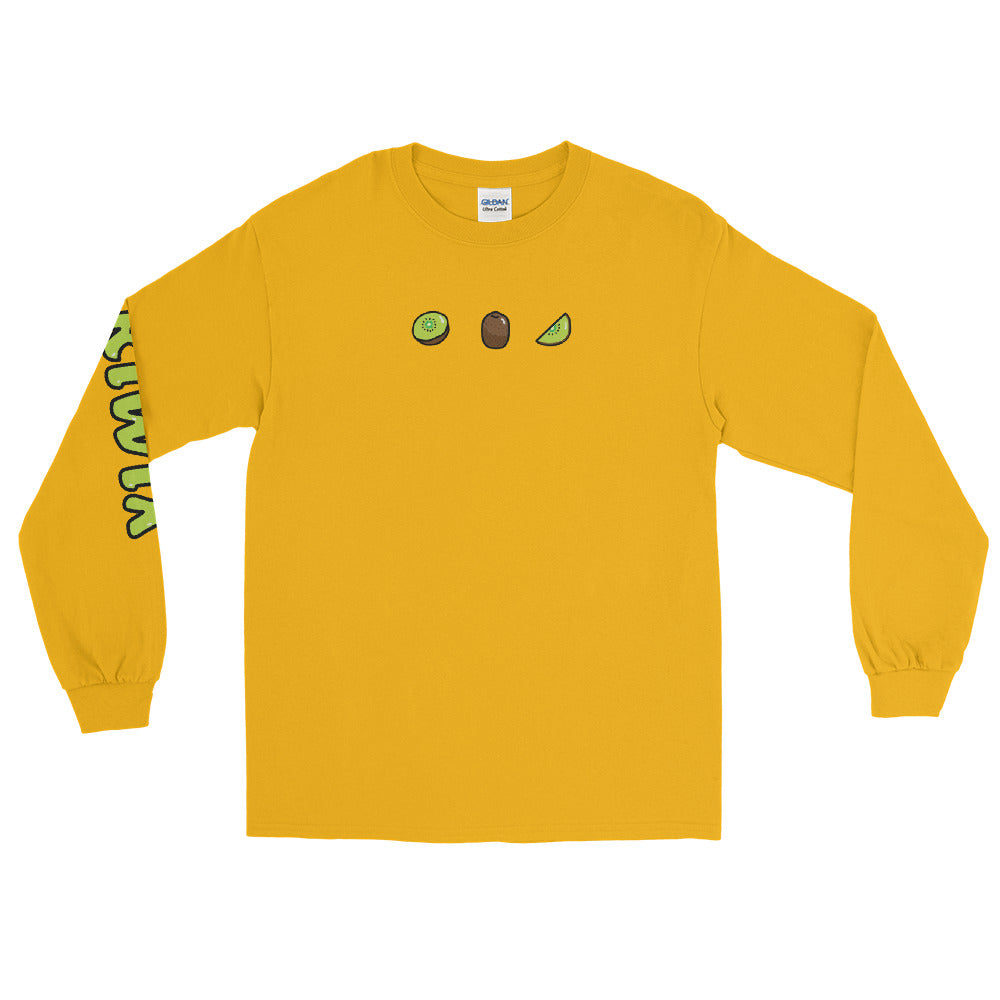 Yellow 3 Fruit Long Sleeve Shirt