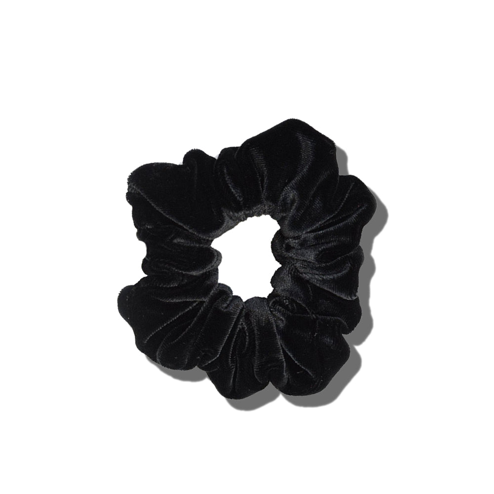 Velvet Scrunchie - Black Knight