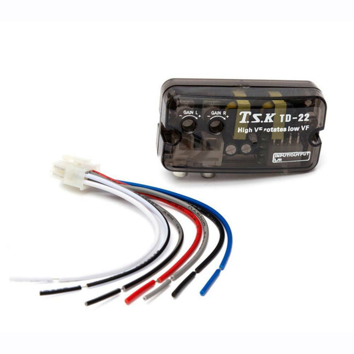 Car Vehicle RCA High to Low Line Frequency Audio Stereo Speaker Level  Converter