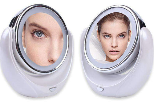 New Way Beauty 360° Cosmetic Mirror with LED Light & 5X Magnification