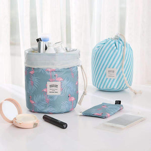 New Way Beauty Round Waterproof Makeup Bag | Travel Cosmetic bag Organizer