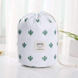 New Way Beauty The cactus Round Waterproof Makeup Bag | Travel Cosmetic bag Organizer