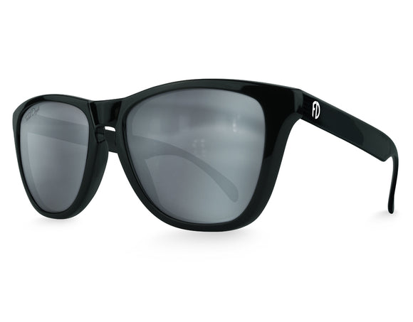 Black Mirrored Modern Wayfarer Sunglasses