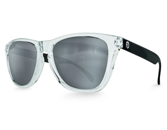 Dark Side Mirrored Modern Frame Sunglasses