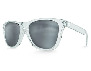 Clear Mirrored Modern Wayfarer Sunglasses
