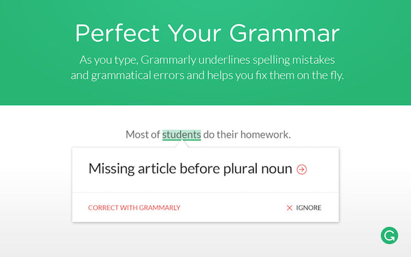 Extensiones de Google chrome Grammarly