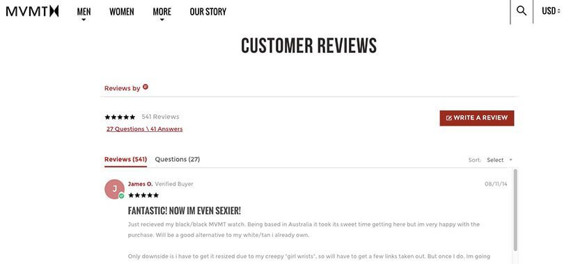 customer reviews shopify