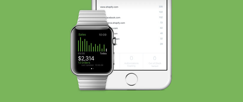 Shopify está disponible en Apple Watch