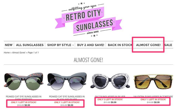 retro city sun glasses