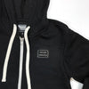 Zip Up Patch Hoodie - Black