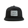 You Are Beautiful Snapback Hat Black