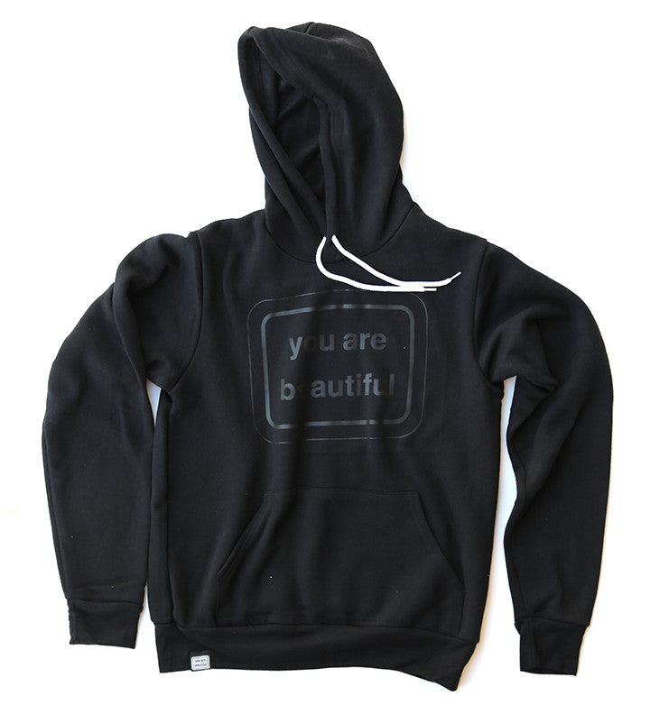 You Are Beautiful Classic Hoodie - Black