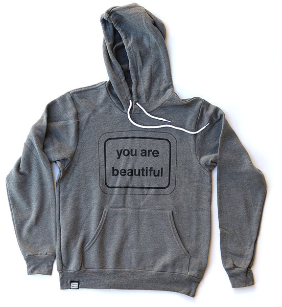 You Are Beautiful Classic Hoodie - Grey
