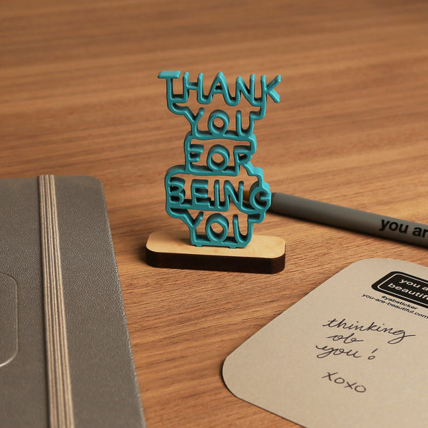 Thank You For Being You - Stacked Mini Sculpture