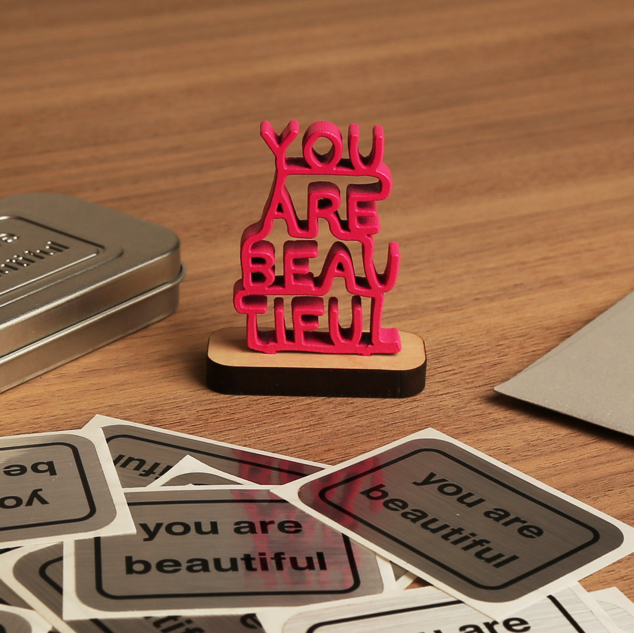 You Are Beautiful - Stacked Mini Sculpture