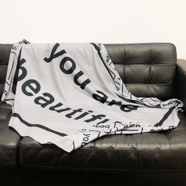 You Are Beautiful Throw Blanket