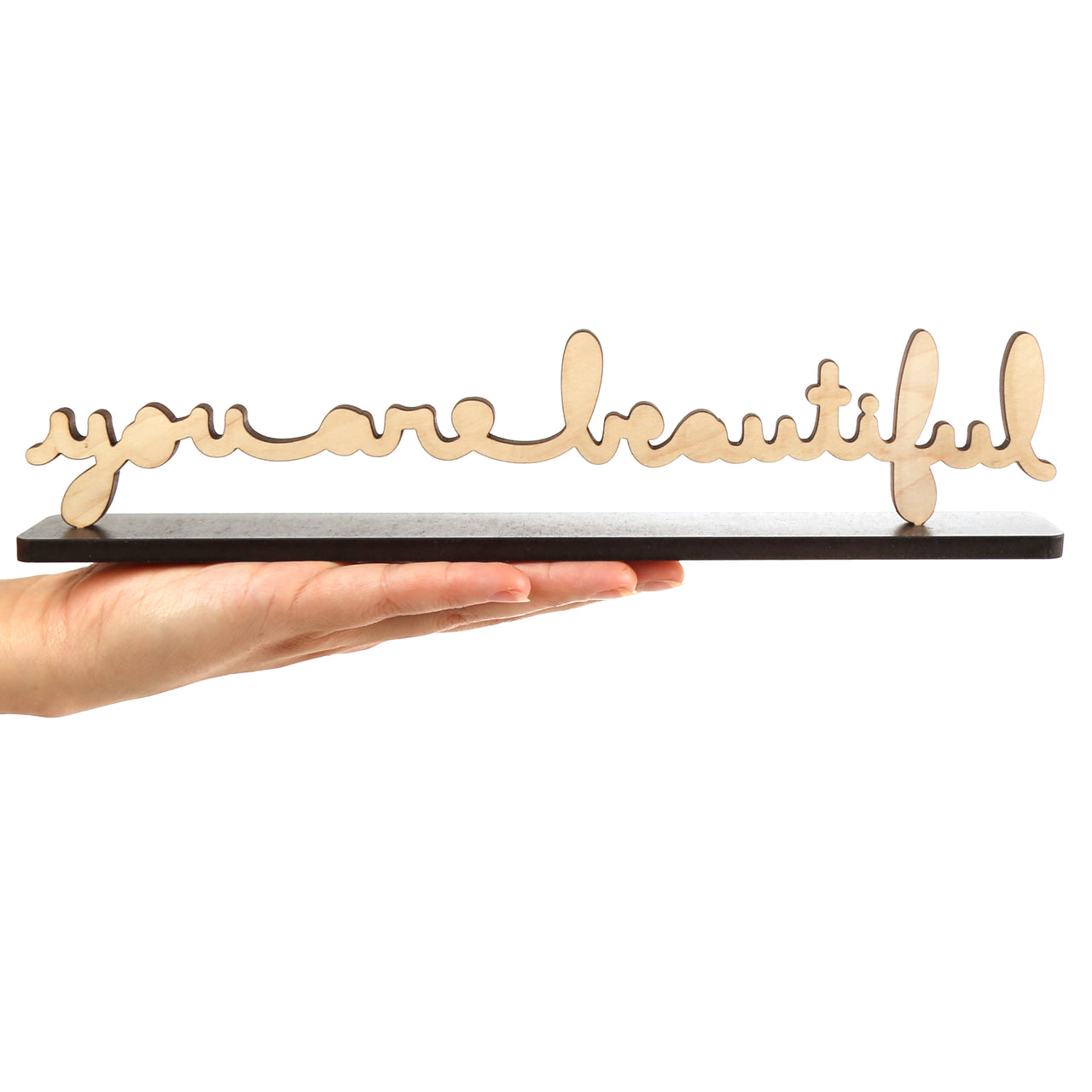You Are Beautiful Large Cursive Sculpture